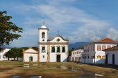 stock photo of cassia  - Church Igreja de Santa Rita de Cassia in Paraty after rain state Rio de Janeiro Brazil - JPG