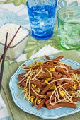 pic of spam  - Hawaiian stir fry made with spam and bean sprouts - JPG
