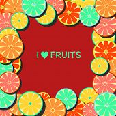 picture of pamelo  - vector colorful Fruit background in Flat - JPG