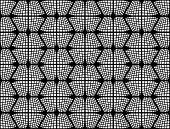 picture of hexagon pattern  - Design seamless monochrome checked hexagon pattern - JPG