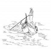 foto of gondolier  - Venice - JPG
