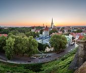 picture of olaf  - Aerial View of Tallinn Old Town from Toompea Hill at Dawn Tallinn Estonia - JPG