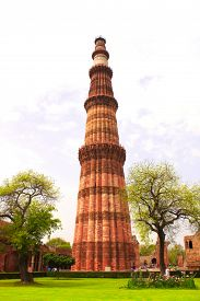 image of qutub minar  - Qutub Minar Tower - JPG