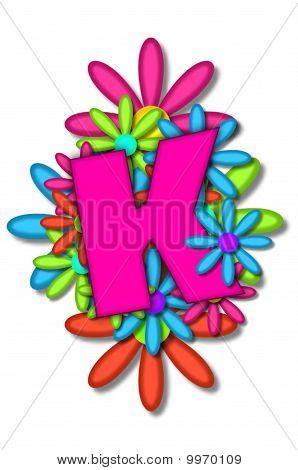 Alphabet Blume Kissen k
