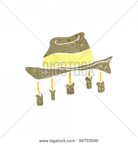 retro cartoon hat with corks