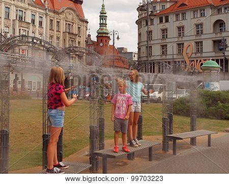 Customers urban sprinkler.