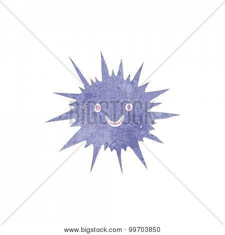 retro cartoon sea urchin