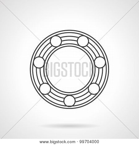 Line vector icon for ball bearing.