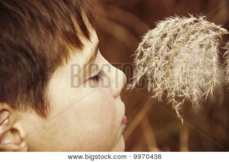 Boy A Smelling