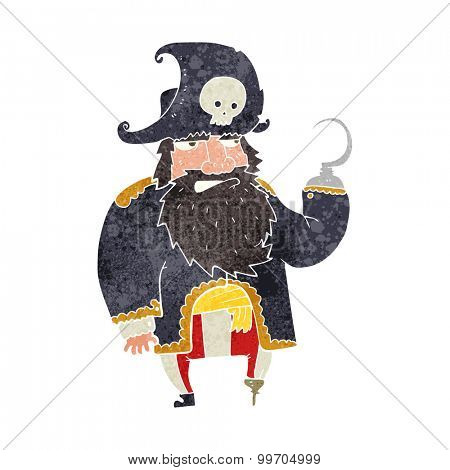 retro cartoon pirate