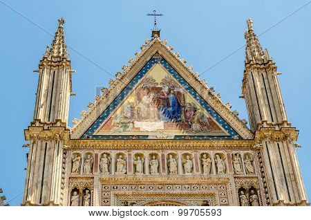 Orvieto Cathedral, Top Of The Facade,  Italy
