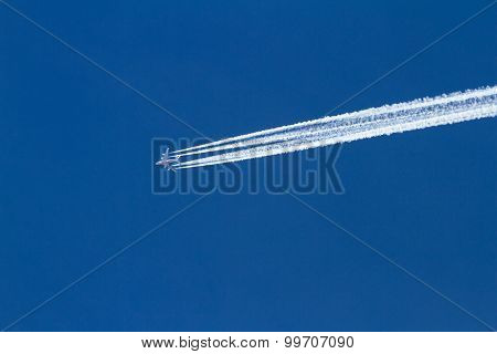 Emirates Plane And Trail