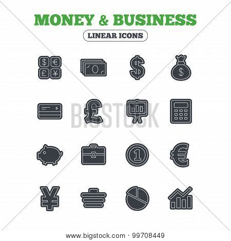 Money and business icon. Cash and cashless money