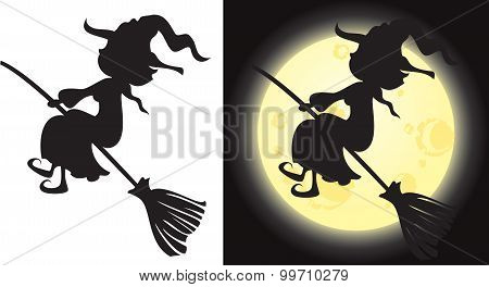 Witch's Silhouette - Halloween Character