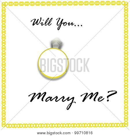 Will You Marry Me on White