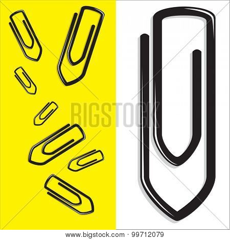 Paper clips as vector illustration