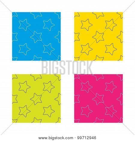 Star icon. Web favorite sign.