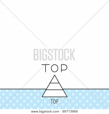 Triangle icon. Top or best result sign.