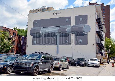 Street art barre (lock)