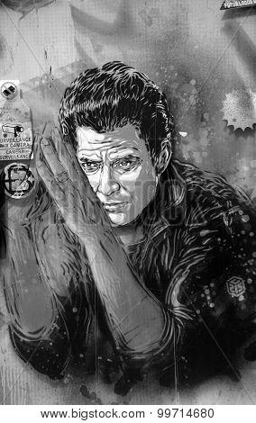 Street art Johnny Cash