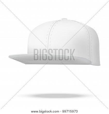 Layout Of Male White Rap Cap.