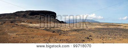 Arid Terrain Leading Peak
