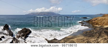 Waves Fill A Mixed Sand Beach