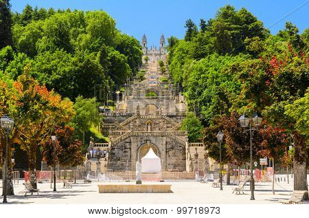 view of church in Lamego, Portugal