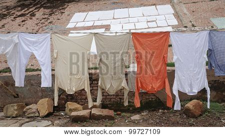 Traditional Clothing Dried In The Sun