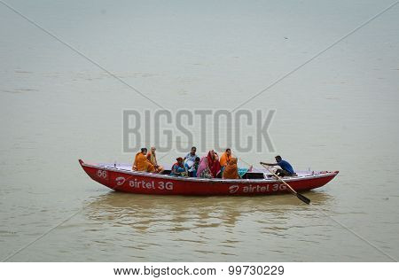 Indian Tourists Taking The Popular Boat Tour