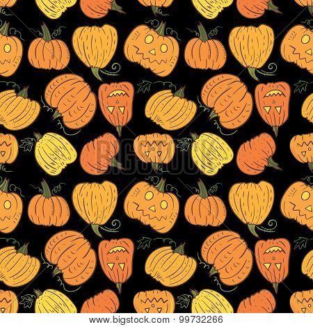 Black Halloween Pumpkin Pattern
