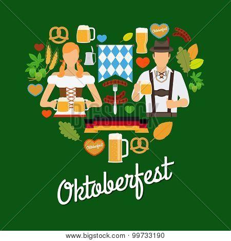 Oktoberfest flat elements