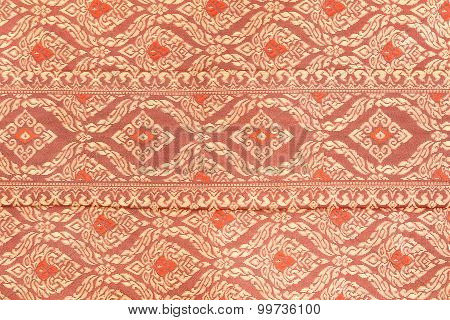 Colorful Thai Silk Texture