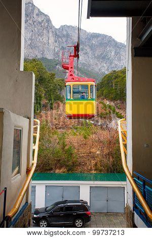 Yalta, Crimea - January 31:Rope road
