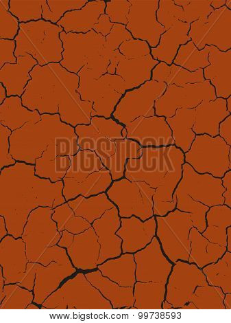 Cracked clay seamless texture
