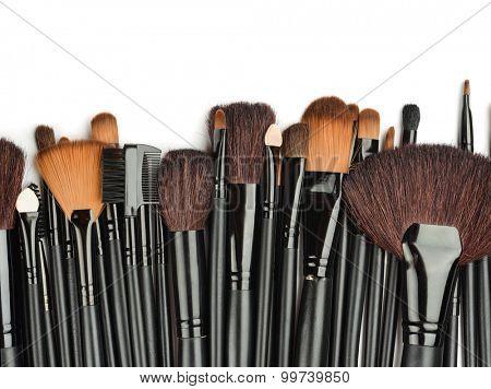 Set of professional make up brushes