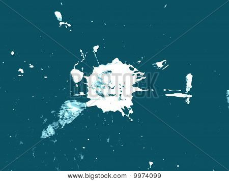 White Paint Splatter