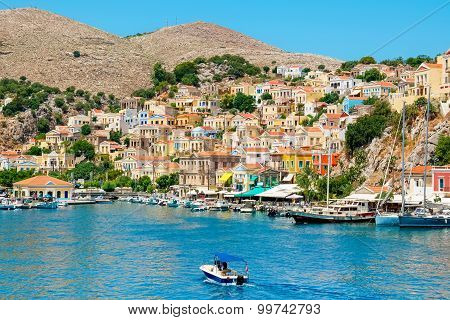 Harbour At Symi. Greece