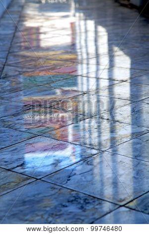 Abstract  Reflex In      Asia  Bangkok Thailand        Temple