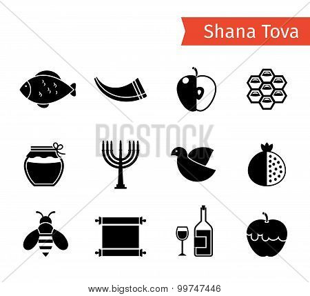 Rosh Hashanah Icons
