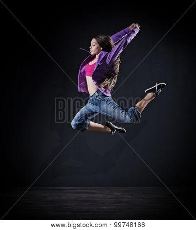 Modern dancer girl (dark version)