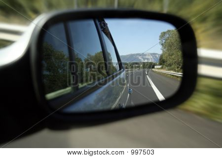 Rear Road View - On An Highway