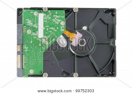 Hard Disk Sata Type On White Background