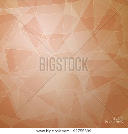 Geometric vector background in autumn shades
