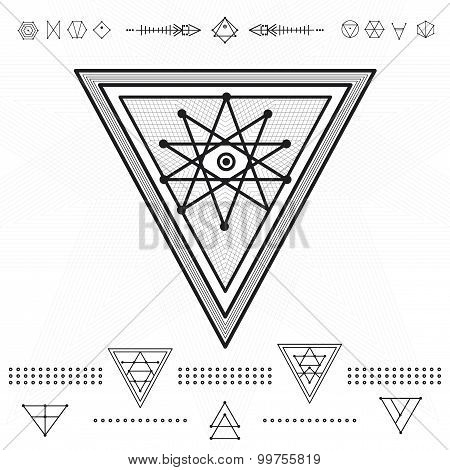 Set Of Geometric Hipster Shapes 9Zn72211D3