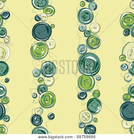 seamless vertikal strips of hand drew buttons