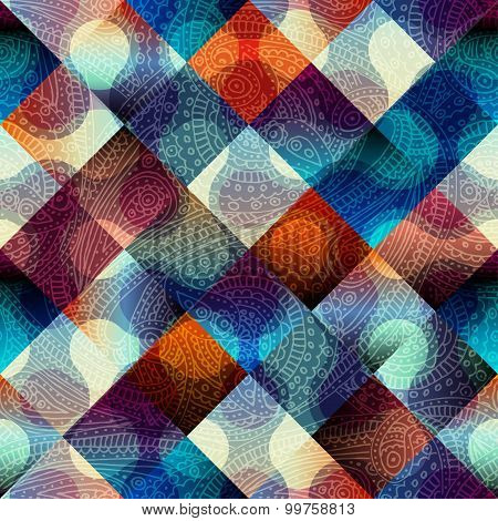Abstract geometric pattern with diagonal strikes.