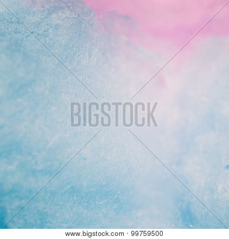 Vintage tone of colorful cotton candy in soft color for background