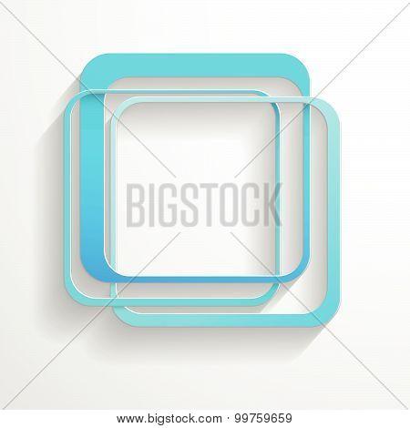 Blue Paper Cube