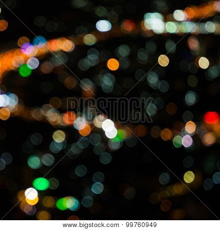 Abstract Festive Background With Bokeh Defocused Lights